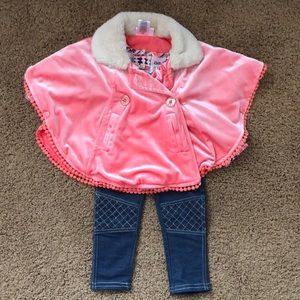 Baby girl stylish poncho outfit